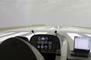 Un des simulateurs de vol d'europilote nantes